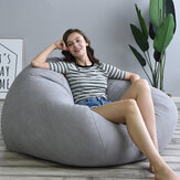 Lazy Sofas Cover Chairs Linen Cloth Lounger Seat Bean Bag Pouf Puff Couch Tatami Living Room