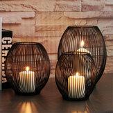 Gaiola de ferro vintage Tealight vela Stand Holder lanterna castiçal casamento decoração