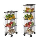 キッチンラック家庭用ポットとポットフロア野菜や果物のバスケット雑貨棚用の多層ボウルと皿