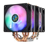 3 Pin Triple Fans Four Copper Heat Pipes Colorful LED Light CPU Cooling Fan Cooler Heatsink for Intel AMD