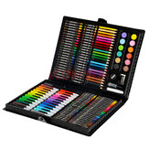 KIDDYCOLOR 163Pcs Aquarell-Mal-Set Malpinsel Bleistifte Buntstift-Set Kinderzeichnung Kunst Graffiti-Stift