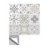 Adesivo de parede autoadesivo 10pcs marroquino à prova d'água Banheiro Adesivo de azulejo de piso de escada de decoração de cozinha