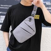 Mannen Lichtgevende Oxford Multi-zakken Grote capaciteit Anti-diefstal waterdichte crossbody tas Borsttas Sling Bag