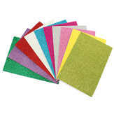 10Pcs 8x12 Inch Adhesive Glitter Paper Card Assorted Colors Scrapbooking Crafts