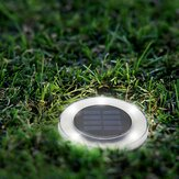 Solar Powered 8 LED Buried Lámpara Luz subterránea redonda Impermeable al aire libre Césped del patio del jardín de Pathway