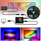 DIY Ambilight PC Smart LED Strip Light 1M/2M/3M/4M/5M USB Computer Monitor LCD Screen Backlight US Plug Christmas Decorations Clearance Christmas Lights