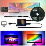 DIY Ambilight PC inteligentna taśma LED Light 1M/2 M / 3M/4 M / 5 M Monitor komputera USB Podświetlenie ekranu LCD Wtyczka amerykańska
