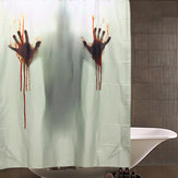 Halloween Horror Blood Bad Polyester Douche Gordijn Badkamer Decor Met 12 Haken