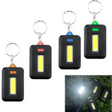 Мини-портативный COB LED Work Light Inspection Батарея Powered Key Chain Tent Pocket Лампа