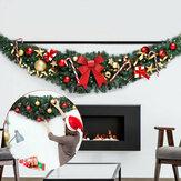 180 cm 2020 guirlande de noël rotin vert avec lumière joyeux noël décor pour la maison enfants ornements d'arbre de noël