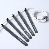Floveme 14 cm Mini Kablo Cep Telefonu Için Düzenleyici Sarımlar USB Kablo Koruyucu Kulaklık Mouse Kordon Klip