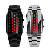SKMEI 1013 Coppia creativa alla moda LED Display Orologio Full Steel Banda Orologio digitale