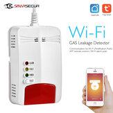 Smarsecur Tuya WIFI Detector de Gás de Notificação APP Alarme de Gás Sensor Para Smart Home Kit remoto Eco-Sistema de Alarme