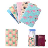 Travel PU Leather Passport Organizer Holder Card Caso Carteira de capa protetora
