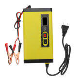 DC 12V 8A Pulse Repair Battery Charger For Car Motorcycle AGM GEL WET Lead Acid Battery LCD