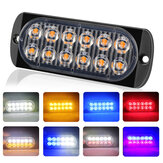 12LED Amber Car Emergency Knipperlicht voertuig Strobe Flash Waarschuwingslamp 6500K 12 / 24V 36W 18 Kind Knipperend Model