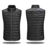 Black Electric Heating Vest Temperature Adjustment Clothes L/XL/XXL/XXXL