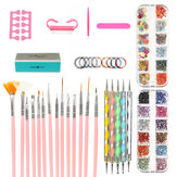 DIY Nail Art Painting Drawing Design Brushes Dotting Polish Pen Tool Set Kit