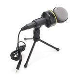 SF-930 3.5mm Studio Professional Condenser Sound Recording Microphone with Tripod Holder for PC Laptop