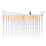 20Pcs Transparency Color Gradient Makeup Brushes Set