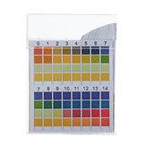 100PCS / Scatola Strisce reattive PH Confronto di precisione a quattro colori 0-14 Strisce di qualità dell'acqua potabile per misurazione PH