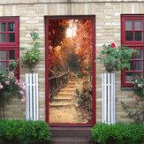 Maple Path Autoadesivi murali decalcomanie 3D porta Wall Sticker Home Decor impermeabile