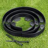 Beira plástica 3meters da afiação da grama flexível do gramado do jardim + 10 decorações fortes extra dos pinos