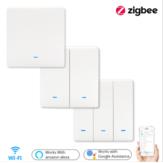 Bakeey Zigbee Wall Switch Light Alexa Wireless Remote Transmitter 1 2 3 Button RF Controller Switch For Lamp - 3 Way