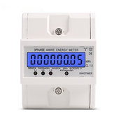 DDS024 3 Phase 4 Wire Energy Meter 380V AC 50Hz LCD Backlight Display Electronic Watt Power Consumption Energy Meter Wattmeter