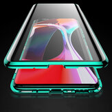 Bakeey 360º Curved Screen Front+Back Double-sided Full Body 9H Tempered Glass Metal Magnetic Adsorption Flip Protective Case For OnePlus 8