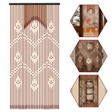 31 lijnen houten stokken Beaded Curtain Doorway Bamboo Blinds Fly Screen Door Curtain