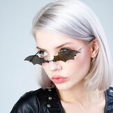 Unisex Personality Creative Bat Shape Fashion Trend UV Protection Sunglasses