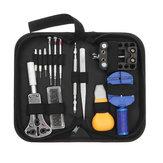 14 stks draagbare horloge reparatie tool kit case opener link remover lente bar tool set