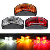 2-SMD LED Luci di ingombro laterali lampada 12-30V 54x24mm E4 Rosso / Giallo / Bianco per furgone rimorchio per camion