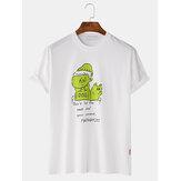 T-shirts à manches courtes imprimés à col rond pour hommes
