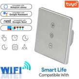 WF-DS033 Tuya Smart Home 86 Type Timing Stepless Dimming Wifi Switch Compatible with Amazon Alexa Google Home