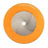 Regla de brújula redonda, tamaño ajustable, dibujo de brújula de acero inoxidable herramientas, dibujo circular y medición para carpintero de diseñador