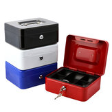 Mini Portable Security Safe Box Money Jewelry Storage Collection Box for Home School Office With Compartment Tray Lockablexs