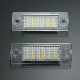 2x LED Luz el número de licencia placa de caddy de golf vw passat t5
