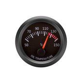 12V olietemperatuurmeter voertuigmeter zwarte schaal 2 inch 52 mm