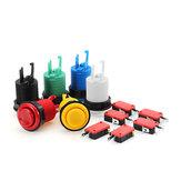 33 MM 28 MM Beyaz Siyah Mavi Kırmızı Sarı Yeşil Uzun Düğme Arcade Oyun Konsolu Denetleyici DIY için