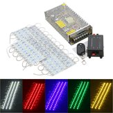 50PCS 5 cores SMD5050 LED Módulo Loja Strip Light Front Lamp + Power Supply + DC12V remoto