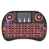 I8 ruso inalámbrico de tres colores retroiluminado 2.4GHz Touchpad Teclado Air ratón