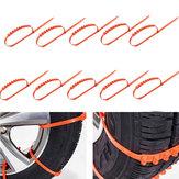 10PCS Coche Camión Cadenas de lodo de hielo y hielo Neumático de la rueda Neumático Anti Deslizamiento del tendón engrosado