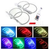 Multi-cor RGB LED anéis de flash strobe luz anjo olho para BMW e46 série 3 5 7