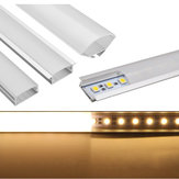 50CM U / YW / V Shape Aluminium Channel Holder For Bar Under Cabinet LED Støpt Strip Light Lamp