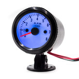 52mm Auto Car Tachometer Tacho Gauge Meter 0-8000RPM W/ Blue LED Backlight