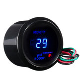 2 Inch 52mm Cubierta negra Coche Universal Digital Azul LED Medidor PSI Turbo Boost Gauge
