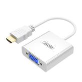 UNITEK Y-6333WH HDMI uyumlu VGA Ses Dönüştürücüsü 1920 * 1080P Altın kaplama Konektör, DC 3,5 mm ses bağlantı noktası ile