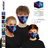 Printed Dustproof Anti-fog Mask Child Adult With 2PC Filter Gasket
